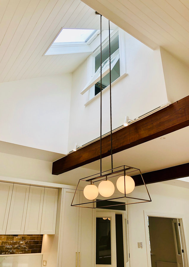 LK&CO Double height ceiling over kitchen island