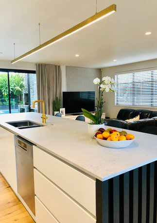Kitchen & family dining & TV room