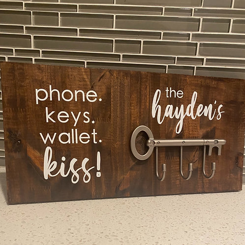 Silver Horizontal Key Holder