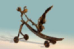 La trotinette volante, pièce unique 1/1