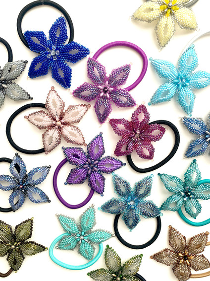 Beaded Flower Hairbands