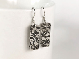 Brutalist Sterling Silver Earrings