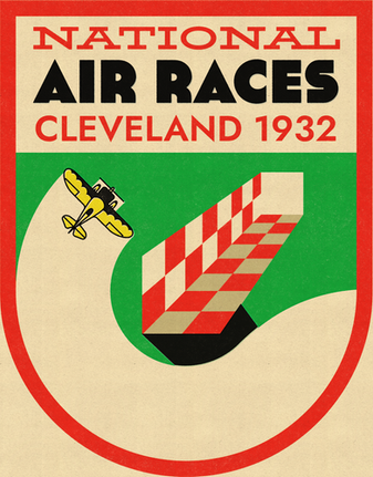 Cleveland Air Races 1932 — Poster & Sticker