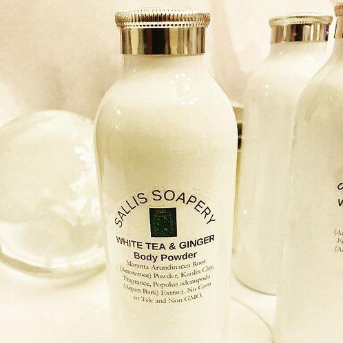 Body Powder - TALC FREE White Tea & Ginger