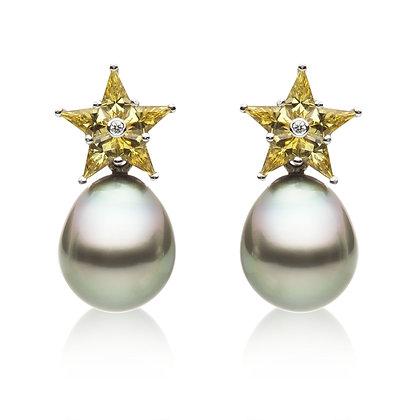 STAR Yellow Earrings