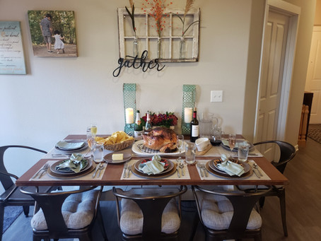 Gratitude and a well styled Thanksgiving Dinner Table