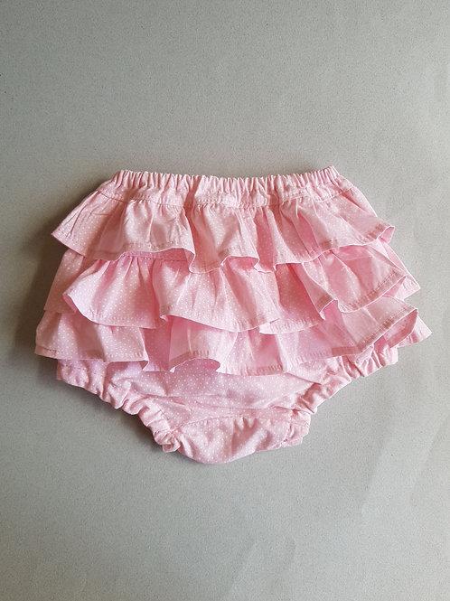Tapa Fralda estampa Pettit Poá Rosa Bebê com babado