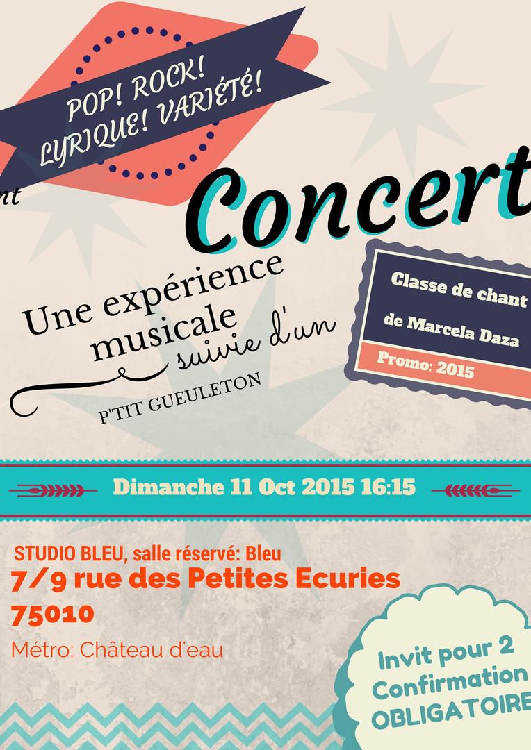 Concert 11 Oct 2015
