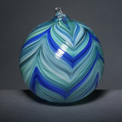 Blue/Green Feathered Ornament