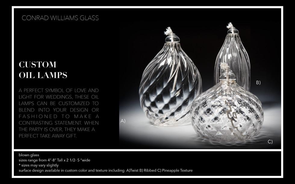 Clear Glass Oil Lamp Handmade by Conrad Williams
