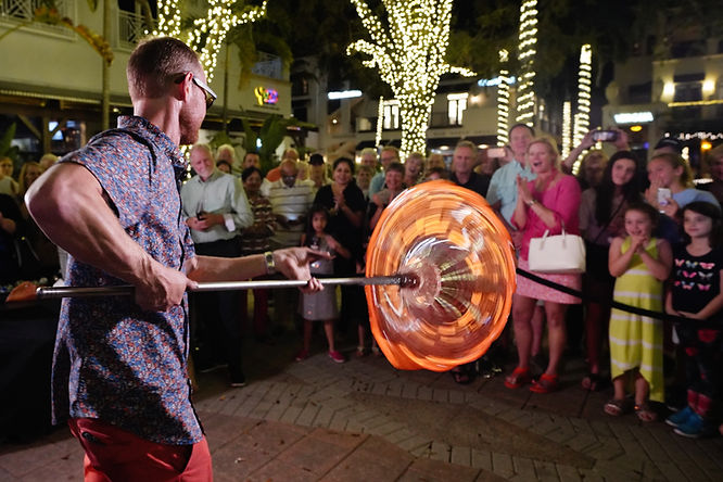 Glassblowing on 5th Avenue in Naples, FL #1 Activity Demonstration
