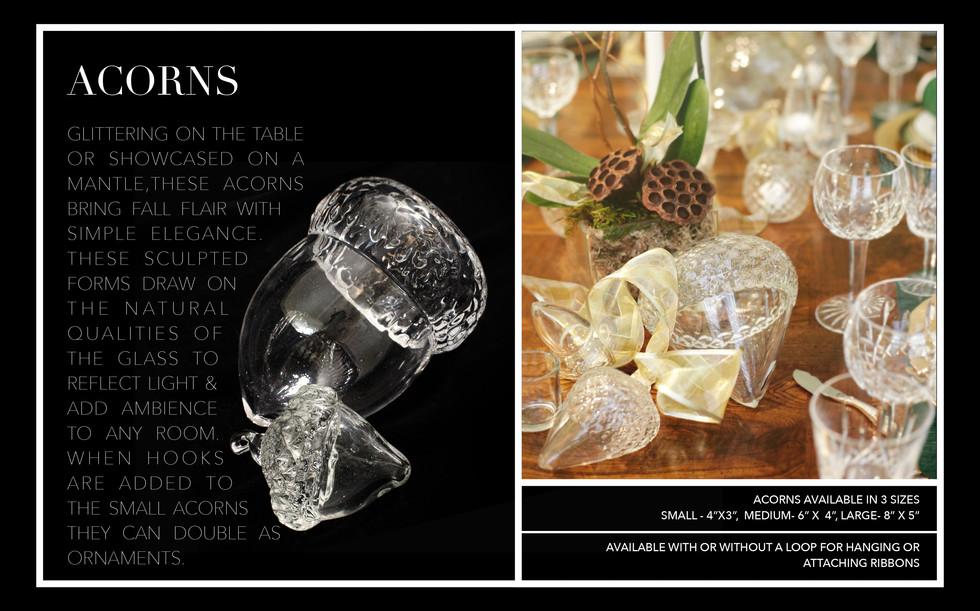 Acorn centerpieces and Napkin Rings