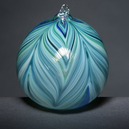 Blue/Green Ferathered Ornament