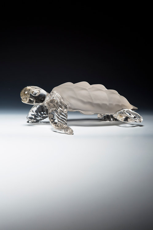 HAND BLOWN, SIGNED SEA TURTLE