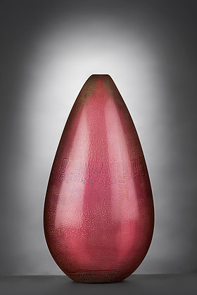 Cranberry and Silver Teardrop