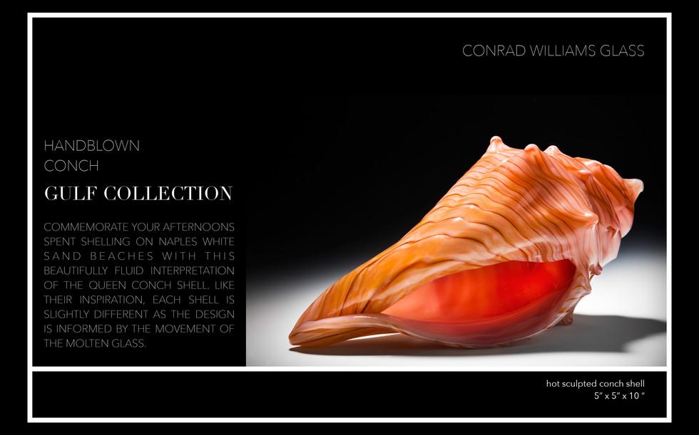 Handblown Conch Shell Naples, FL Luxury Gift