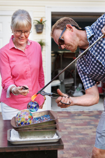 Learn to blow glass in southwest florida