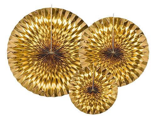 Dekorative Rosetter Gull