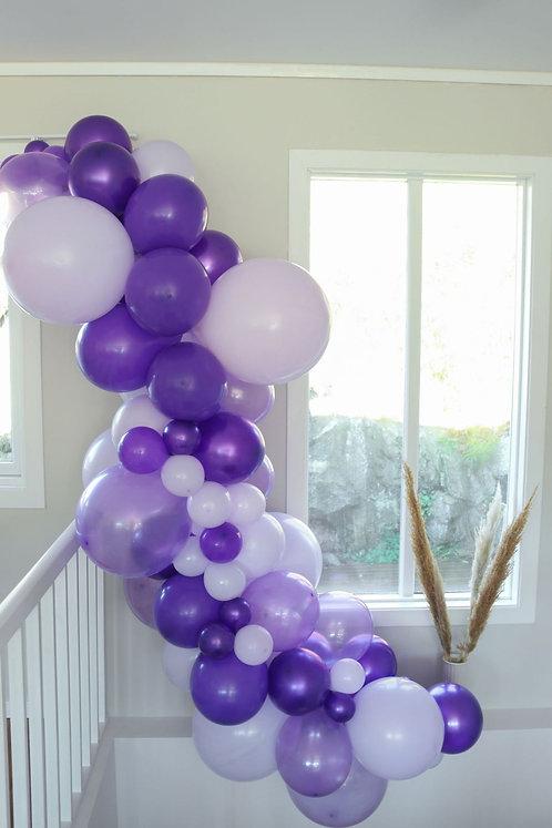 Ballong Girlander 3 m - Lilla/Hvit/Transparent