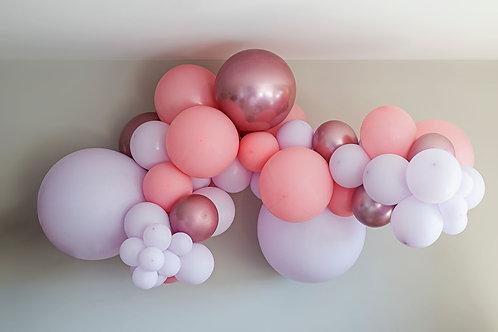 Ballong Girlander 2 m - Pastell Rosa