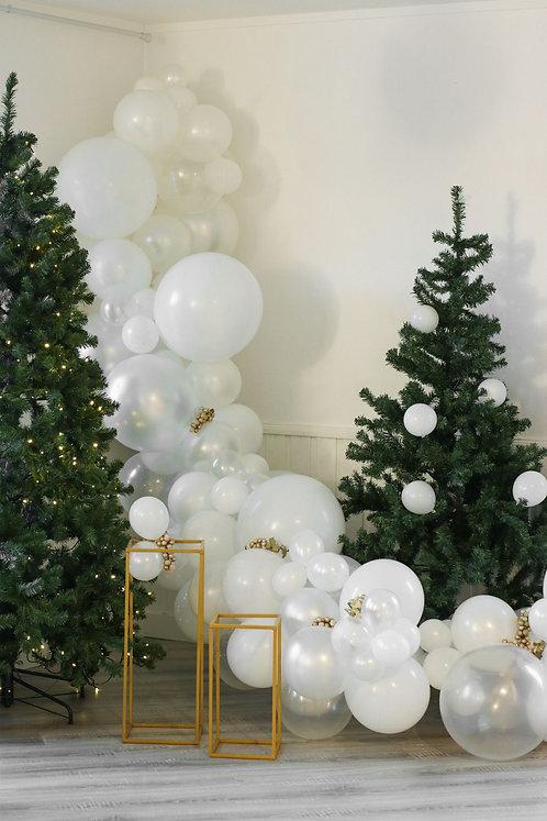 Ballong Girlander 3 m - Hvit/Transparent