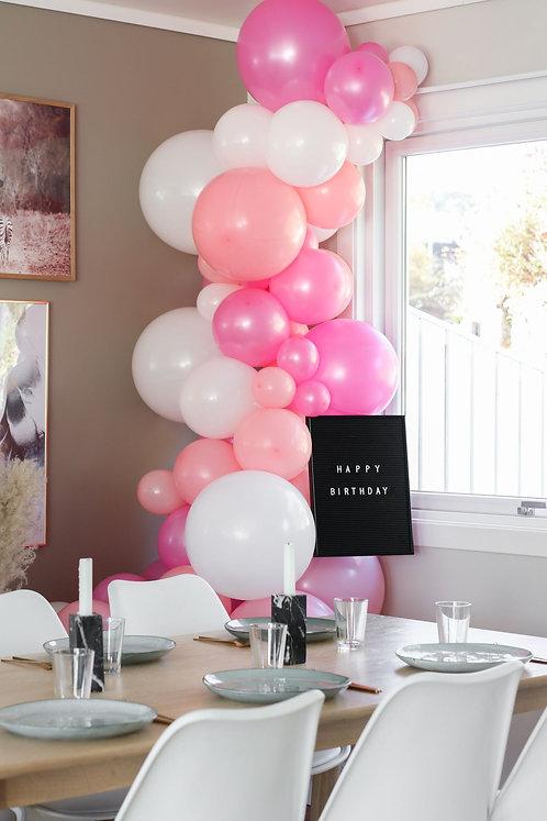 Ballong Girlander 3 m - Rosa/Pastell/Hvit