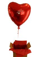 Ballongeske Foliehjerte - En Ballong