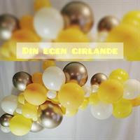 Ballong Girlander 2 m - Gul/Hvit/Gull
