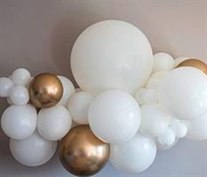 Ballong Girlander 2 m - Hvit/Gull