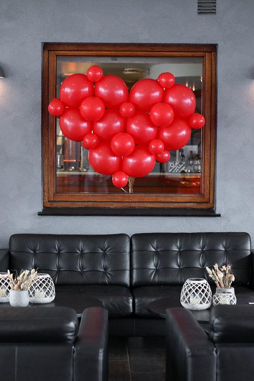 Ballongbukett - Hjerte