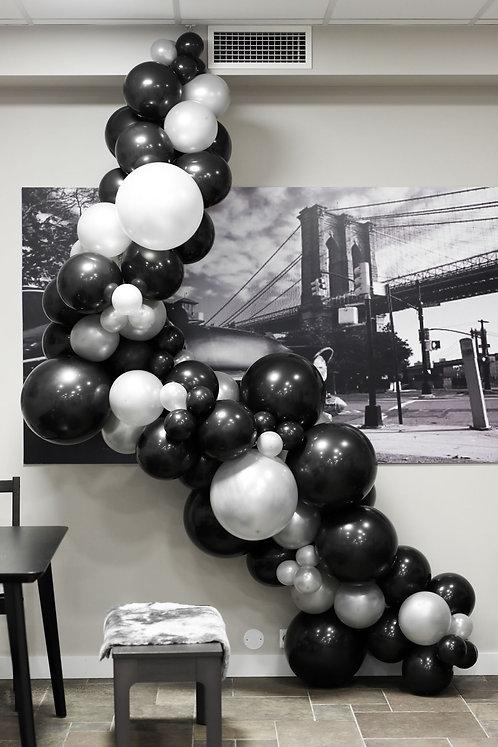 Ballong Girlander 3 m - Svart/Sølv