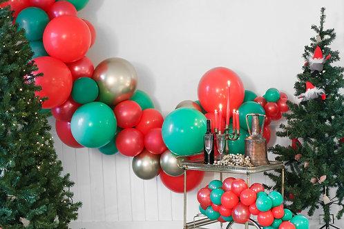 Ballong Girlander 3 m - Rød/Grønn/Gull