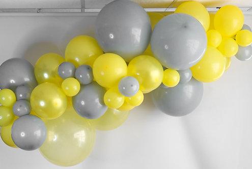 Ballong Girlander 2 m - Gul/Grå