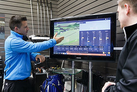 golf coaching trackman