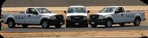 Former fleet of trucks
