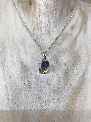 Chakra necklace third eye with amethyst