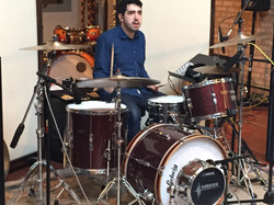 Ben keeps the time on the Ludwig!