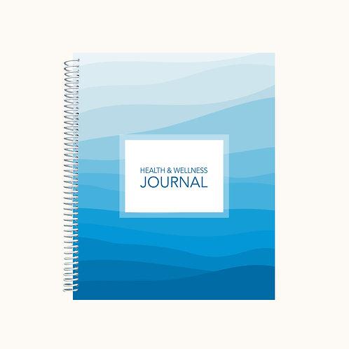 Health & Wellness Journal (Undated) Basic Blue