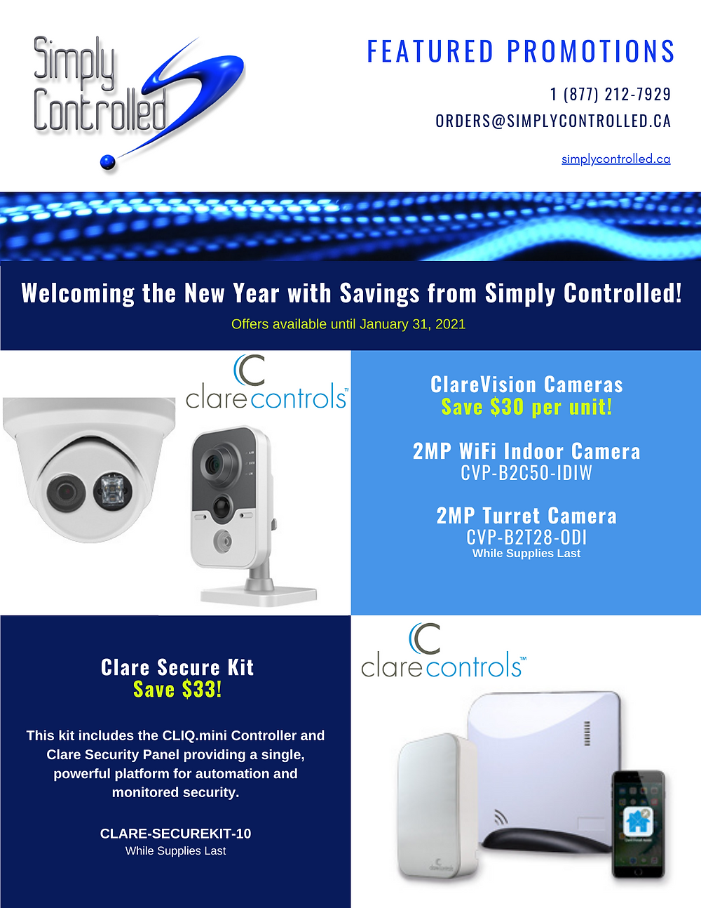 Clare Controls, Security, Security Promotion, Clare Secure, ClareVision