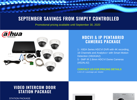 September Savings From Simply Controlled!