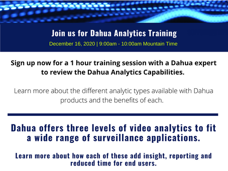 Dahua Analytics Training
