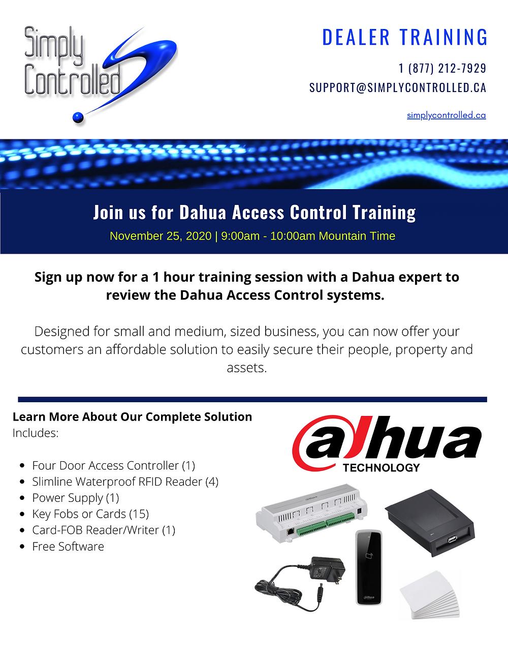 dahua, access control, security, dealer training, dealer education, webinar