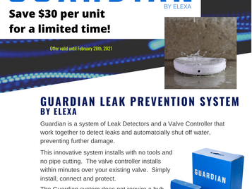 Save on the Guardian Leak Prevention System!