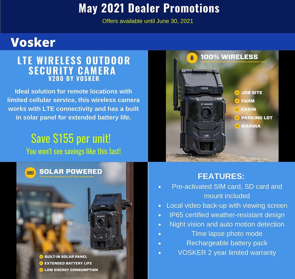 Vosker Wireless Outdoor Cameras