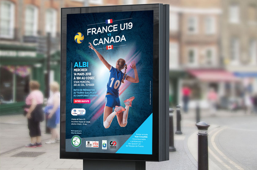 affiche france canada volley