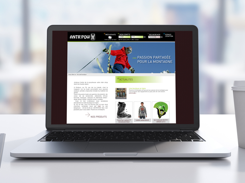 Site boutique Antr'pow
