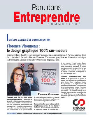 """Paru dans le magazine """"Entreprendre"""""""