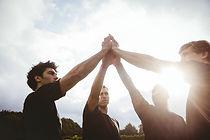 Os jogadores do rugby