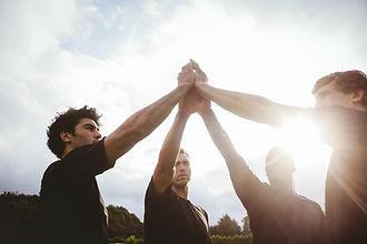 Les joueurs de rugby