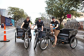 Think outside the box. Our pedicabs can be modified to create a unique advertising opporunity that will grab everyones attention